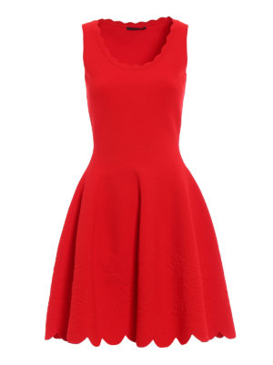 Alexander Mcqueen: short dresses - Embossed roses jersey dress