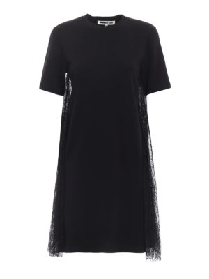 Alexander Mcqueen: short dresses - Lace inserts baby doll dress