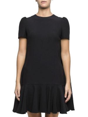 Alexander Mcqueen: short dresses online - Cape-back flounced crepe dress