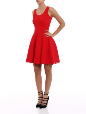 Alexander Mcqueen: short dresses online - Embossed roses jersey dress