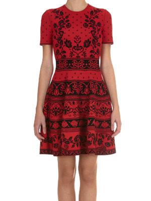 Alexander Mcqueen: short dresses online - Floral jacquard jersey dress