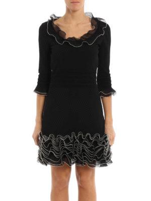 Alexander Mcqueen: short dresses online - Ruched jersey dress