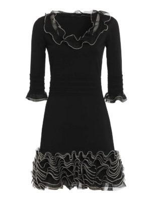 Alexander Mcqueen: short dresses - Ruched jersey dress