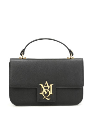 Alexander Mcqueen: shoulder bags - Insignia leather large bag