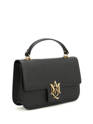Alexander Mcqueen: shoulder bags online - Insignia leather large bag