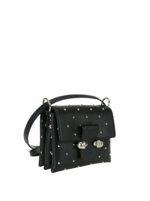 Alexander Mcqueen: shoulder bags online - Leather skull bag