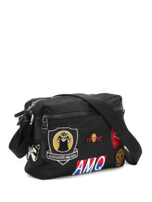 Alexander Mcqueen: shoulder bags online - Skull patches camera bag