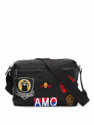 Alexander Mcqueen: shoulder bags - Skull patches camera bag