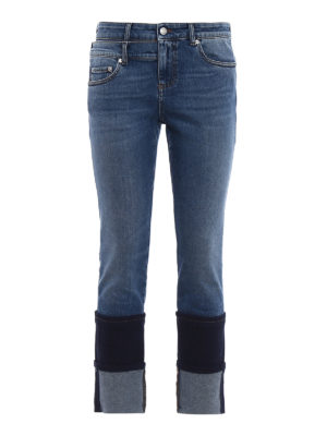 Alexander Mcqueen: skinny jeans - Double maxi turn-up skinny jeans