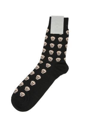 Alexander Mcqueen: socks online - Skull cotton socks