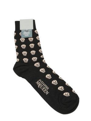 Alexander Mcqueen: socks - Skull cotton socks