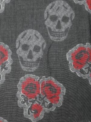 Alexander Mcqueen: Stoles & Shawls online - Silk and modal poppy print shawl