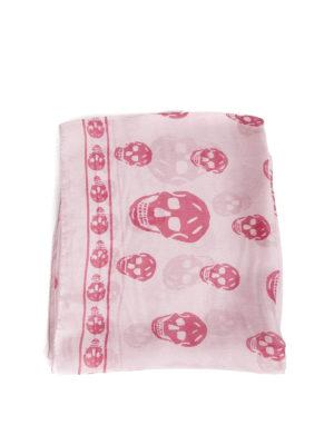 Alexander Mcqueen: Stoles & Shawls online - Skull print detail silk shawl