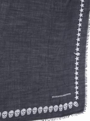 Alexander Mcqueen: Stoles & Shawls online - Star and skull wool shawl