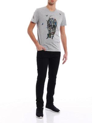Alexander Mcqueen: straight leg jeans online - Organic denim slim fit jeans