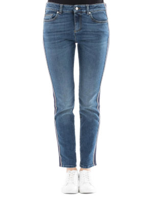 Alexander Mcqueen: straight leg jeans online - Selvedge detailed cotton jeans