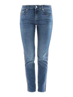Alexander Mcqueen: straight leg jeans - Selvedge detailed cotton jeans