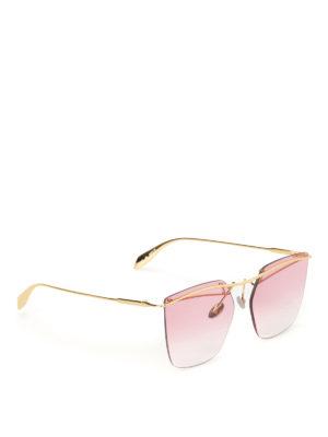 Alexander Mcqueen: sunglasses - Metal geometric sunglasses