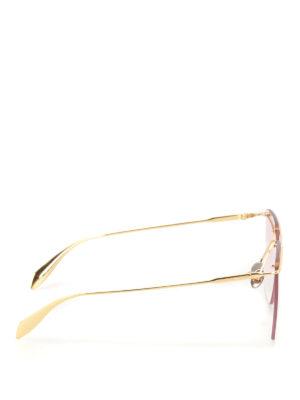 Alexander Mcqueen: sunglasses online - Metal geometric sunglasses