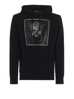 ALEXANDER MCQUEEN: Felpe e maglie - Felpa con cappuccio e stampa Crowned Skull