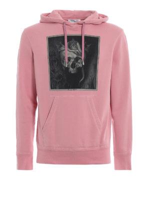 ALEXANDER MCQUEEN: Felpe e maglie - Felpa rosa con cappuccio Crowned Skull