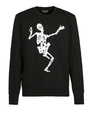 ALEXANDER MCQUEEN: Felpe e maglie - Felpa nera girocollo Dancing Skeleton