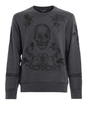 Alexander Mcqueen: Sweatshirts & Sweaters - Embroidered sweatshirt