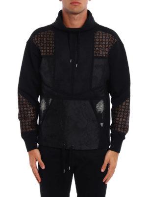 Alexander Mcqueen: Sweatshirts & Sweaters online - Patterned panelled sweatshirt