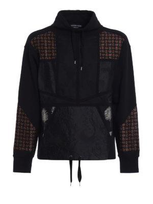 Alexander Mcqueen: Sweatshirts & Sweaters - Patterned panelled sweatshirt
