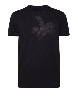 Alexander Mcqueen: t-shirts - Chest floral embroidery T-shirt