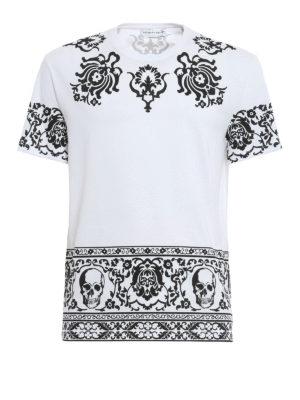 Alexander Mcqueen: t-shirts - Engin Skull T-shirt