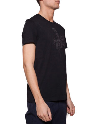 Alexander Mcqueen: t-shirts online - Chest floral embroidery T-shirt