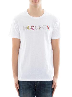 Alexander Mcqueen: t-shirts online - Mcqueen logo print T-shirt