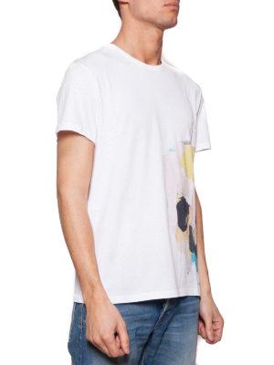 Alexander Mcqueen: t-shirts online - Multicolour skull print cotton Tee