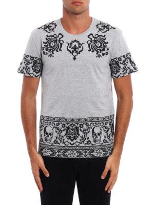 Alexander Mcqueen: t-shirts online - Skull pattern cotton T-shirt