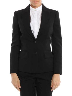 Alexander Mcqueen: Tailored & Dinner online - Peplum wool tailored jacket