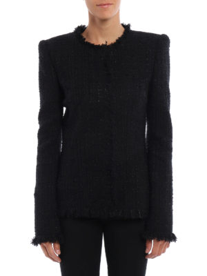 Alexander Mcqueen: Tailored & Dinner online - Tweed slim fit formal jacket