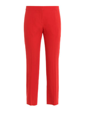 Alexander Mcqueen: Tailored & Formal trousers - Crepe cropped trousers