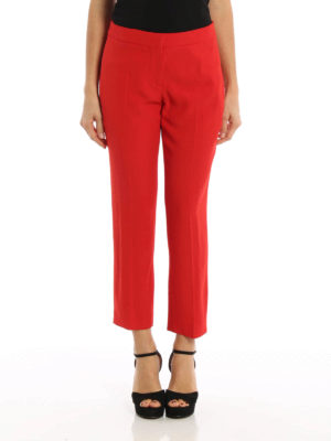 Alexander Mcqueen: Tailored & Formal trousers online - Crepe cropped trousers