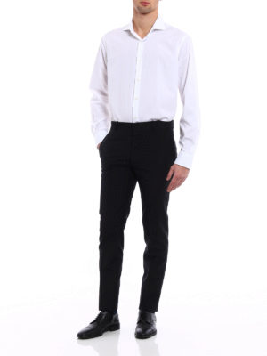 Alexander Mcqueen: Tailored & Formal trousers online - Wool and mohair slim fit trousers