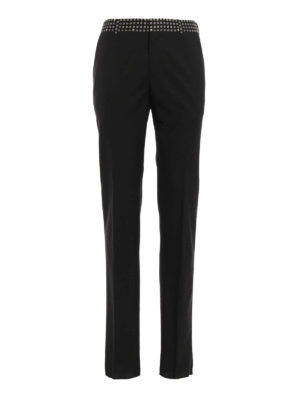 Alexander Mcqueen: Tailored & Formal trousers - Patterned waistband trousers