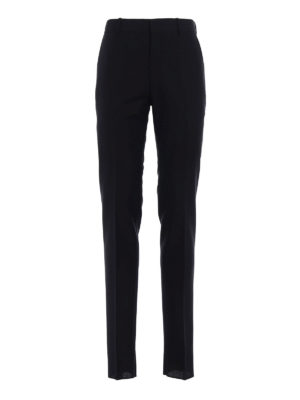 Alexander Mcqueen: Tailored & Formal trousers - Wool and mohair slim fit trousers