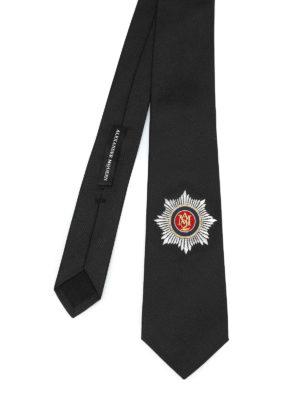 Alexander Mcqueen: ties & bow ties - Embroidered silk tie
