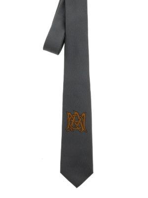 Alexander Mcqueen: ties & bow ties - Logo silk tie