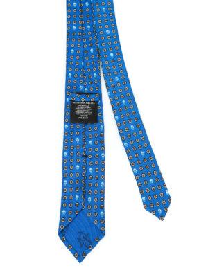 Alexander Mcqueen: ties & bow ties online - Skull and poppy print silk tie