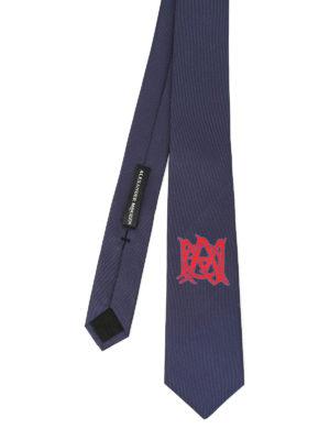 Alexander Mcqueen: ties & bow ties - Silk tie logo detail