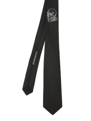 Alexander Mcqueen: ties & bow ties - Silk tie skull detail