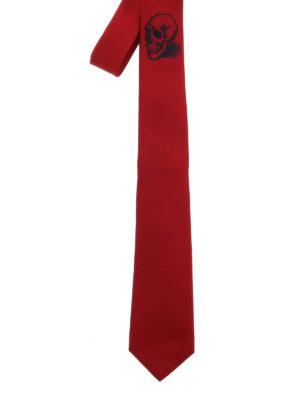 Alexander Mcqueen: ties & bow ties - Skull silk tie