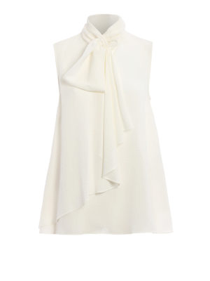 Alexander Mcqueen: Tops & Tank tops - Ruched silk georgette top