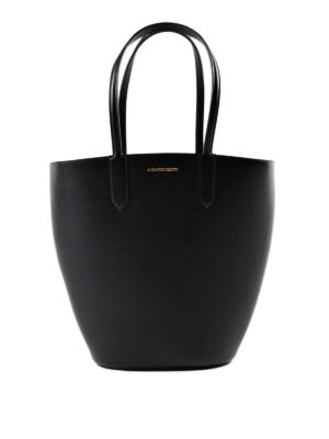 Alexander Mcqueen: totes bags - Basket Bag leather small tote